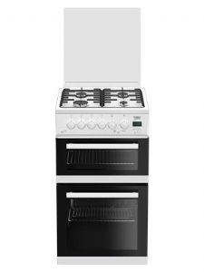 Beko EDG506W Twin Cavity Gas Cooker